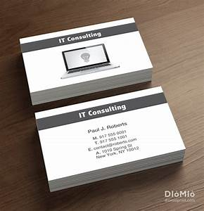 It consulting business card computer laptop it for It business card