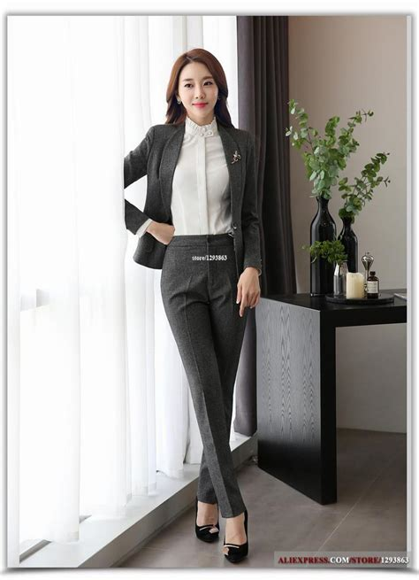 full length professional business formal pants women