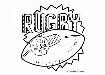 Rugby Coloring Sport Printable Pages Sports Ball