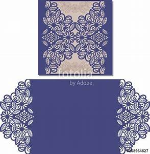 Vector paper cut out card laser cut pattern for for Laser cut wedding invitations vector free