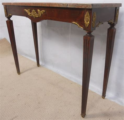 Antique French Style Marble Top Gilt Mounted Console Table