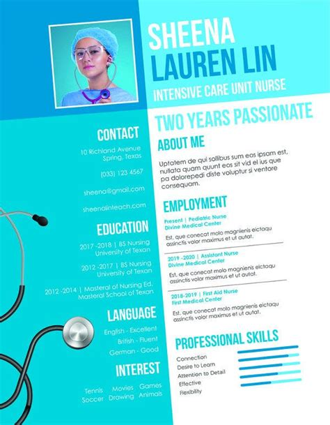 Nursing Resumes Templates For Student