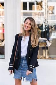 Outfits Damen 2017 : bergang b ro dunkelblauer blazer jeansrock v j du modeblog aus deutschland fashion ~ Frokenaadalensverden.com Haus und Dekorationen