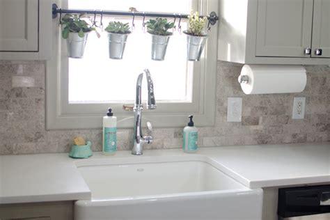 above kitchen sink decor remodeled kitchen using original cabinets with diy custom 3965
