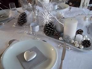 Decoration De Noel Table : une d co de table blanche et argent pour no l no l ~ Melissatoandfro.com Idées de Décoration