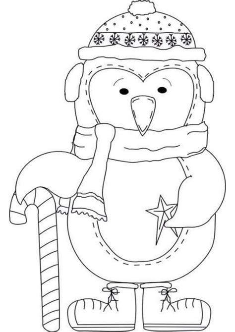 easy  print penguin coloring pages tulamama