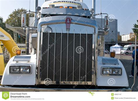 kenworth automatic kenworth kw semi truck grill editorial photography