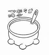 Coloring Soup Pot Pumpkin Pages Visit sketch template