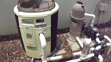 heat pump pool heater hayward cartridge system youtube
