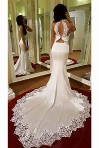 robe de mariee trapeze trou de serrure cache coeur dos nu With robe de mariée dos nu plongeant