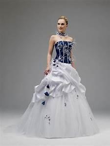 white and royal blue wedding dress Naf Dresses