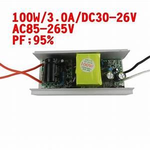 2019 100w Dc 30v 36v 3000ma Led Driver For 100w Led Chip Diy Ac 85v 265v 110v 220v High Pf