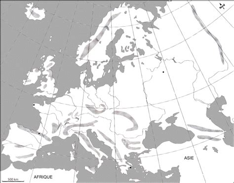 Carte De La Vierge Avec Les Massifs Montagneux by Carte Des Massifs Montagneux D Europe My