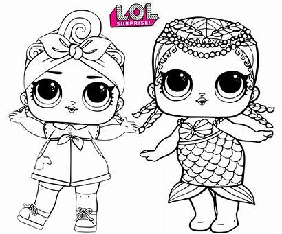 Lol Coloring Dolls Doll Pages Printable Surprise