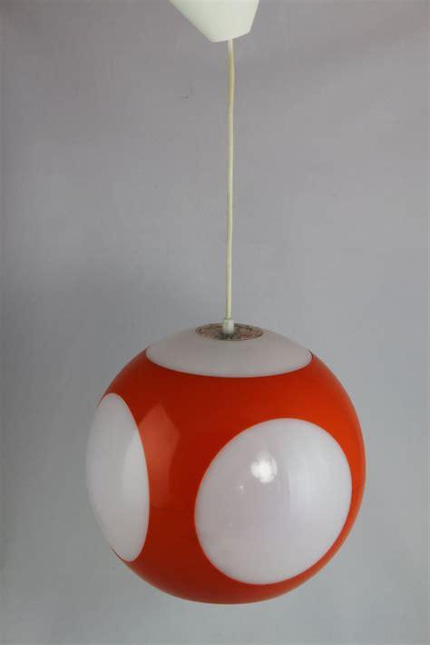 original er jahre ufo lampe luigi colani orange weiss