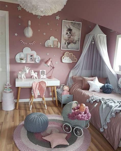 rosa kinderzimmer maedchen deko ideen einhorn wolken