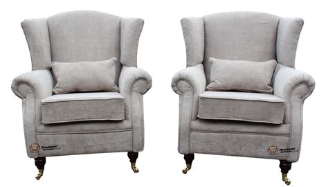 2 X Ashley Fireside High Back Wing Easy Chairs Armchairs