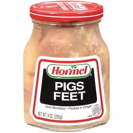hormel jarred pigs feet semi boneless  vinegar  oz