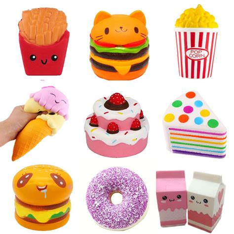 jumbo slow rising squishies scented new craze squishy toy charms stress reliever ebay