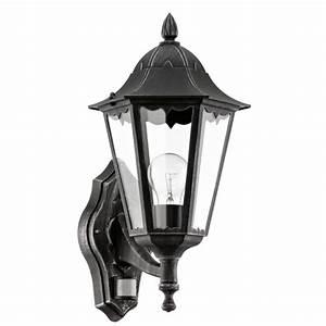 Lampe Exterieur Murale : acheter eglo lampe murale ext rieur navedo avec d tecteur 60 w noir pas cher ~ Teatrodelosmanantiales.com Idées de Décoration