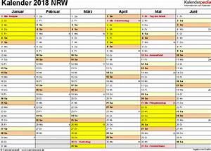 Ferien Nrw 2018 19 : kalender 2018 nrw ferien feiertage pdf vorlagen ~ Buech-reservation.com Haus und Dekorationen