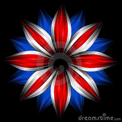 flower  british flag colors  black stock