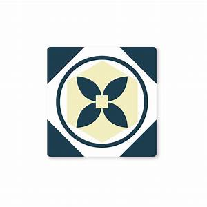 Stickers Carreaux Cuisine : stickers carreaux de ciment cuisine beige et bleu color stickers ~ Preciouscoupons.com Idées de Décoration