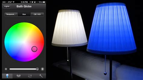philips hue led full review  color changing app demos youtube