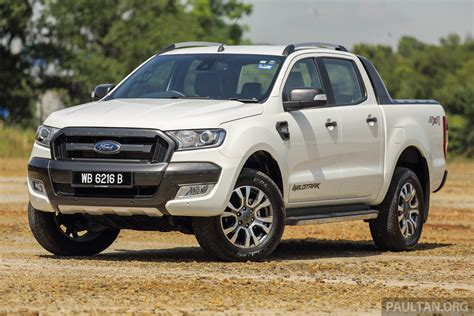 2016 ford ranger prices revised 2 2 3 2 xlt variants up between rm850 rm920 3 2 wildtrak up