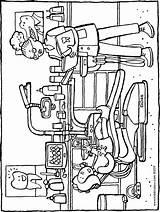 Dentist Emma Colouring Kiddicolour Drawing sketch template