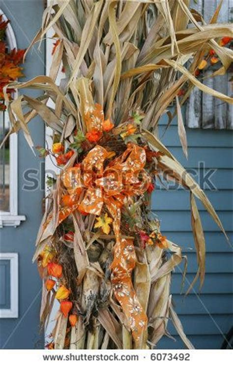ideas  corn stalk decor  pinterest fall