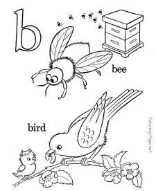 Alphabet Letter B Coloring Pages