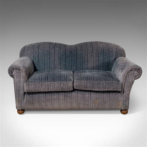 Settee With Arms by Antique Chesterfield Sofa Drop Arm Settee Quality Blue 2