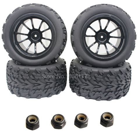 wheels monster truck videos 4pcs lot 2 2 inch rubber 1 10 monster truck tires wheels