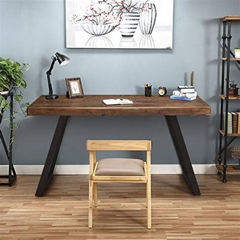 Small Wood Desk by Tribesigns 55 Quot Solid Wood Computer Desk Rustic Desks With