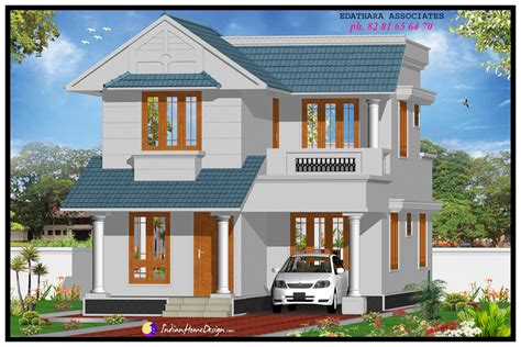 sqft modern double floor kerala home design