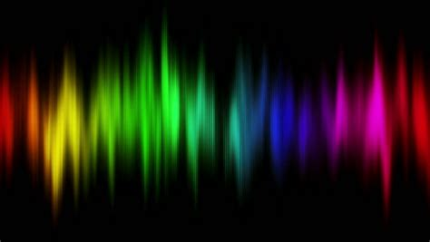 Different Color Lights by Audio Waveform Equalizer Computer Generated Seamless Loop