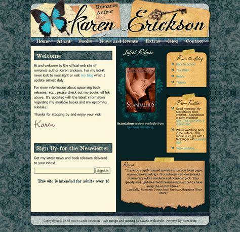 website design  author karen erickson swank web design