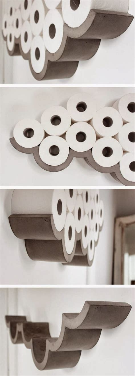 They are really simple and unique. DIY Toilet Paper Holder Ideas - Add Decor To Bathroom   DIY Home Decor
