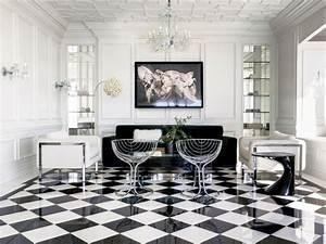 Schwarz Weiß Kontrast : fliesen im schachbrettmuster 31 ideen f r passende deko ~ Frokenaadalensverden.com Haus und Dekorationen