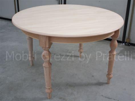 tavoli grezzi legno tavoli grezzi tavolo rotondo allungabile grezzo