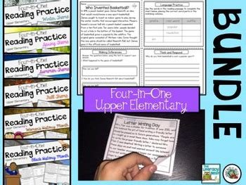 reading comprehension passages upper elementary tpt