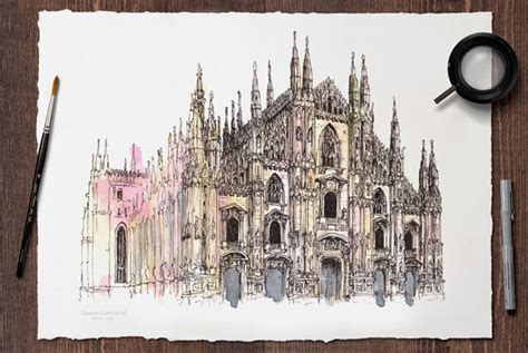40+ Aweinspiring World Famous Monuments Water Paintings