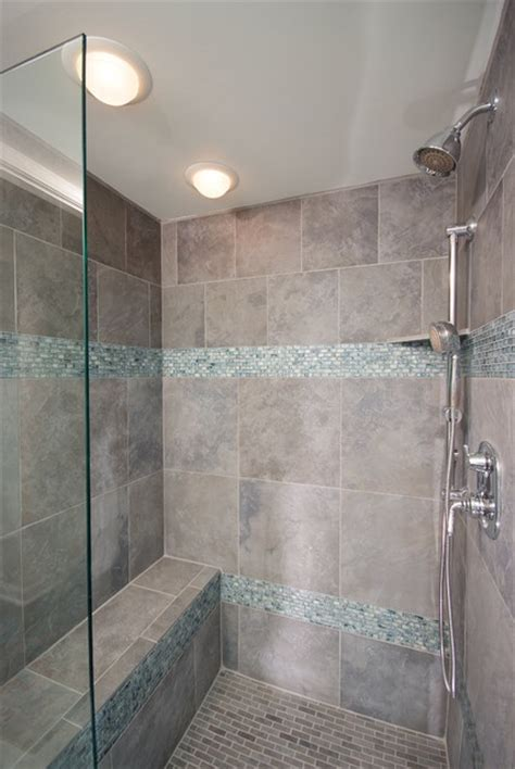 cool tile showers bathroom shower in cool blue tile contemporary bathroom cleveland by artistic