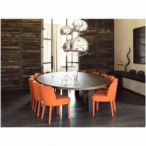 Table a manger ovale design conceptions de maison for Table salle a manger ovale