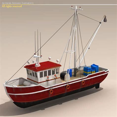 Fishing Boat Model fishing boat 3d model flatpyramid