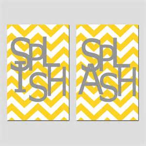 kids bathroom wall art print set pick two 13x19 chevron