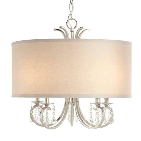 Home Depot Drum Light by Home Decorators Collection 5 Light Polished Nickel