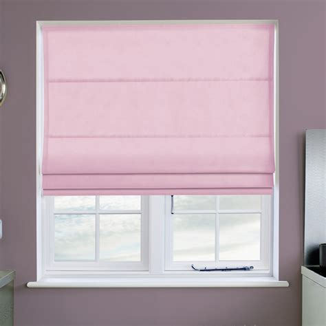 Faux Suede Pastel Pink Roman Blind Direct Blinds
