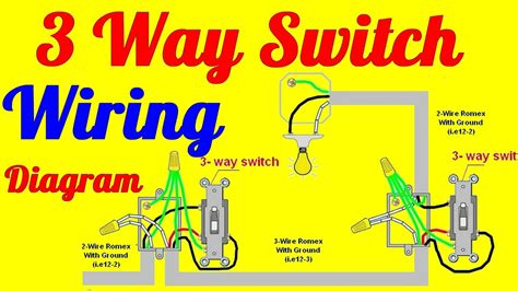Way Switch Wiring Diagrams How Install Youtube